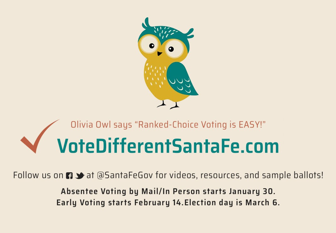 Vote Different Santa Fe!Our New Ranked-Choice Ballot