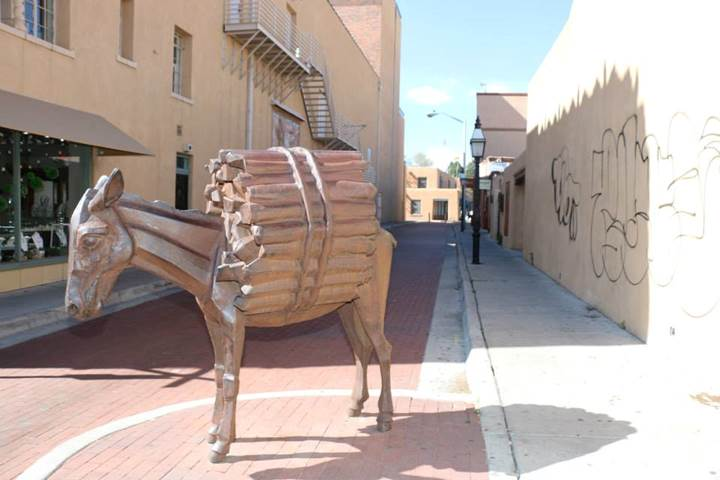 Santa Fe Arts Commission Hires Artist To Fabricate A Replacement Tail For The Homage To The Burro Sculpture By Artist Charles City Of Santa Fe New Mexico