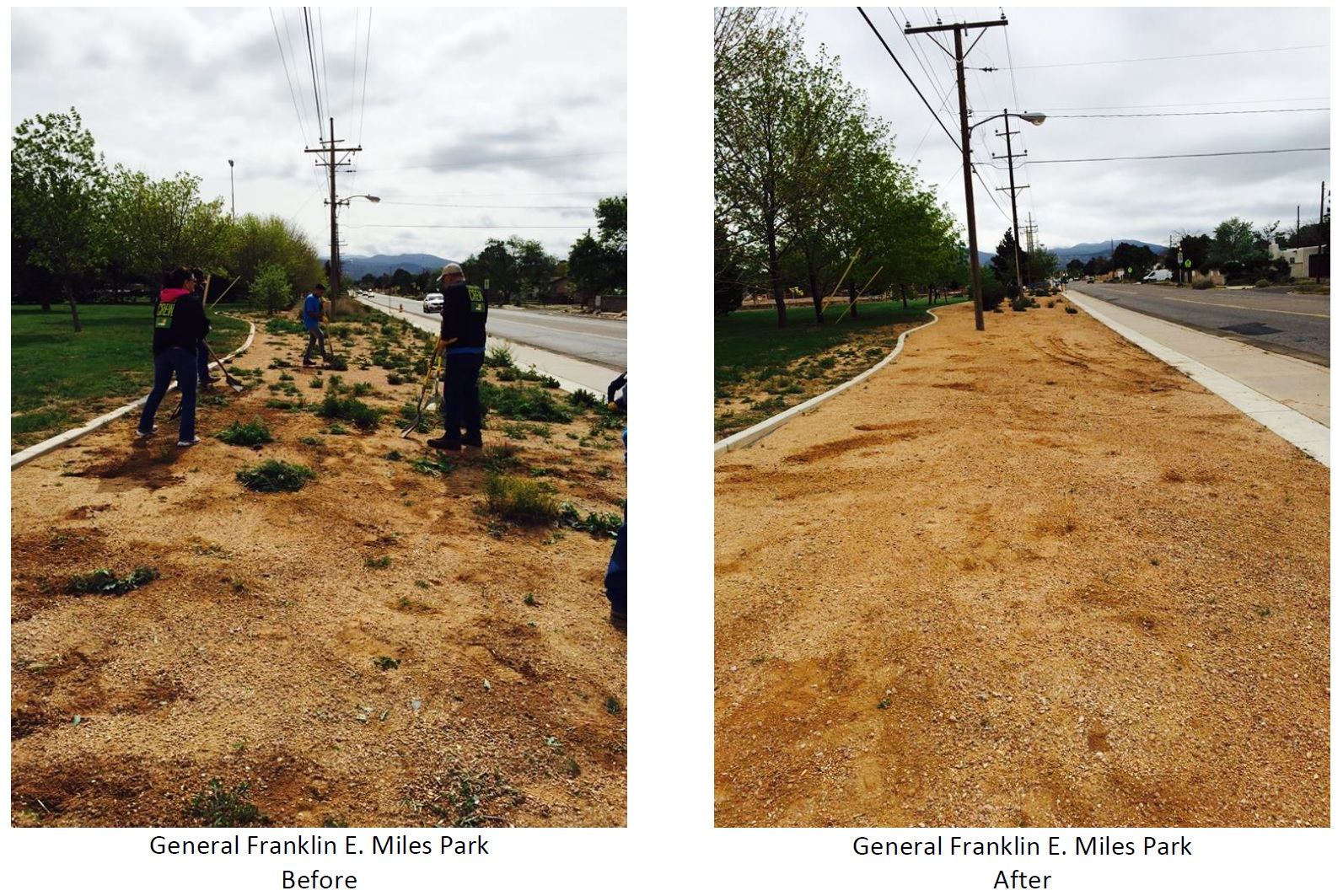 Before & After Photos of Franklin E. Miles Park