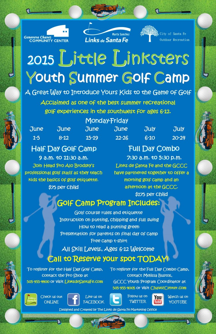 2015 Little Linksters Youth Summer Golf Camp City Of