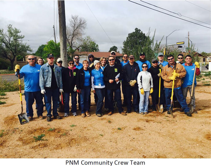 PNM Community Crew Team - Clean Up of Franklin E. Miles Park