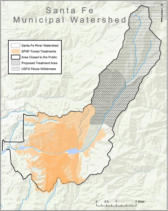 Map Of Areas Treated With Prescribed Fires And Vegetation Thinning