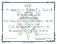 sustainable santa fe award