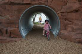 Photo of children's tunnel at the Railyard Park