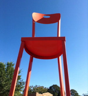 Photo of Red Chair sculpture at Don Diego / Entrada Park