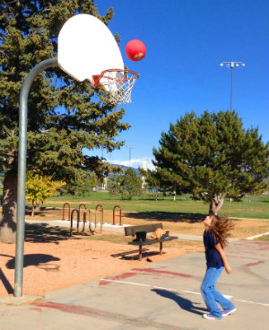 Photo of basketball player at Franklin Miles Park