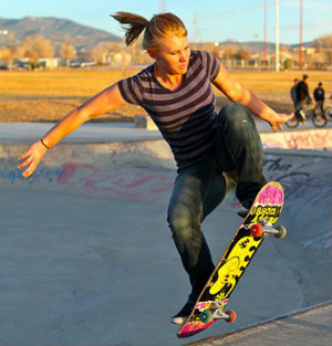 Photo of skateboarder at Franklin Miles Park
