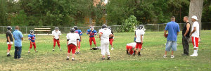 Photo of football players at Herb Martinez Park