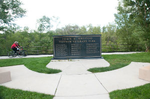 Photo of Vietnam Veterans memorial at John F. Griego Park