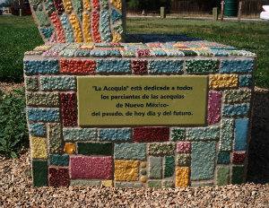 Photo of tiled structure at Las Acequias Park