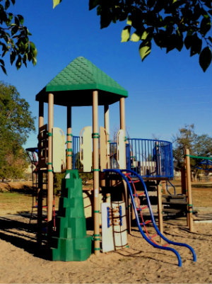 Photo of play equipment at Los Hermanos Rodriguez Park