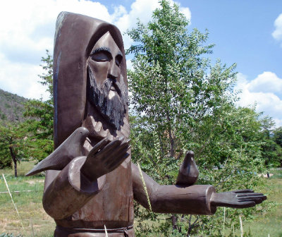 Photo of sculpture of St. Francis at Adam Gabriel Armijo Park