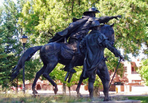 Photo of Governor Peralta sculpture
