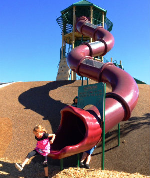 Photo of slide at Ragle Park