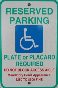 ADA Parking Sign
